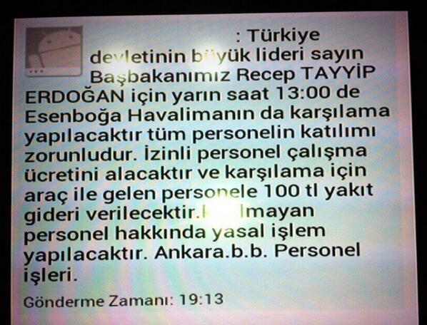 AKP sms Erdogan